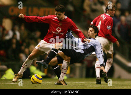 A Young Cristiano Ronaldo playing for Manchester United against Southampton Fabrice Fernandes in the premier league. - Stock Image