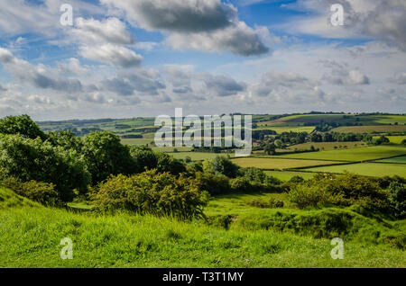 View on Lincolnshire wolds - Stock Image