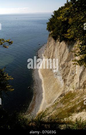 Baltic Sea, Rügen, Wissower handles, chalk rocks, Wissower Klinken, Kreidefelsen - Stock Image