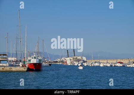 Puerto Marina Benalmádena. Málaga province, Andalusia, Spain. - Stock Image