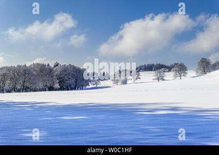 Beautiful winter landscape in Bavaria. Germany - Stock Image