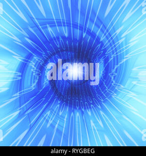 binary digits in a spiral, cyberspace and data stream concept - Stock Image