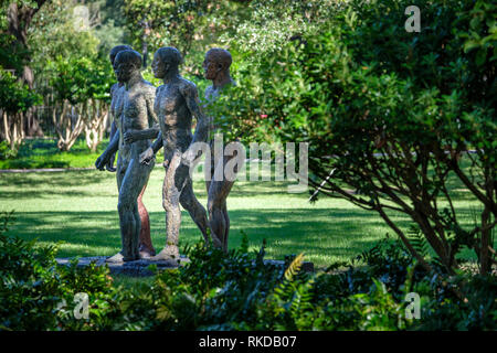 Riace Warriors, I, II, III, IV, by Elisabeth Frink, New Orleans Sculpture Garden New Orleans, New Orleans Museum of Art, Louisiana, USA - Stock Image