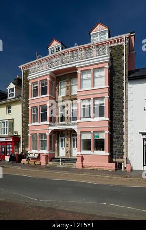 Seafront Property Aberdovey Gwynedd Wales UK - Stock Image