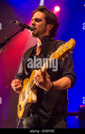 London, UK, 4th March 2015. Jack Savoretti, Live Performance at O2 Shepherd's Bush Empire. Credit:  Robert Stainforth/Alamy - Stock Image