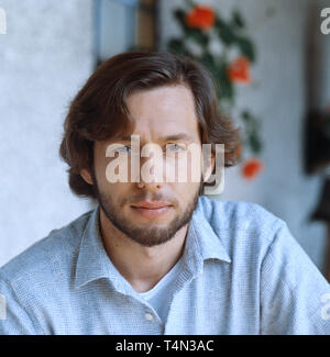 Stephan Schwartz, deutscher Film- und Fernsehschauspieler, Deutschland 1990. German movie and TV actor Stephan Schwartz, Germany 1990. - Stock Image