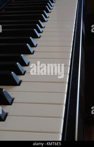 photo of a piano keys (side view) - Stock Image