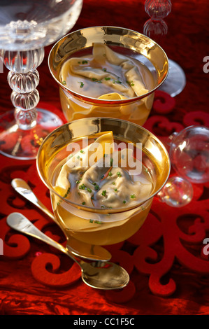 Broth with Cep - Stock Image