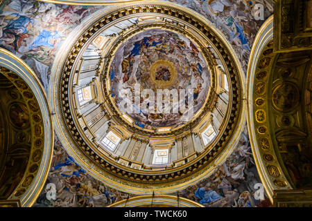 Fresco with chapel in San Gennaro Cathedral in the Old Town of Naples, Italy - Stock Image