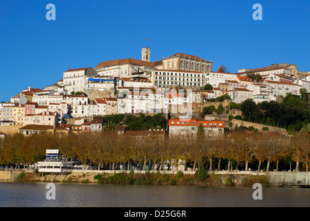 A view of the city of Coimbra. - Stock Image