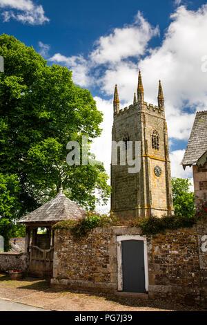 UK, England, Devon, Sampford Courtenay, St Andrew's, 1549 Prayer Book Rebellion Church - Stock Image