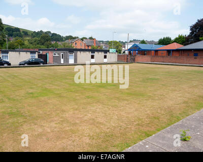 Newtown Back Lane bowling club bowling green, Powys Wales UK - Stock Image