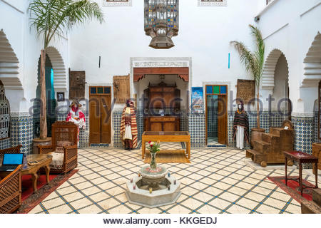 Morocco, Marrakech-Safi (Marrakesh-Tensift-El Haouz) region, Marrakesh. Heritage Museum, housed in a restored historic - Stock Image