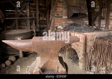 Blacksmith's forge at museum of East Anglian life, Suffolk. - Stock Image