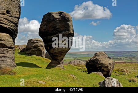 The Bride Stones in Yorkshire - Stock Image