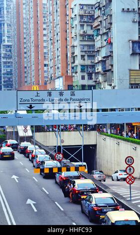 street scene Macau China - Stock Image
