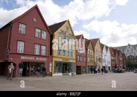 UNESCO World Heritage site, Bryggen, the old wharf of Bergen, Norway. - Stock Image