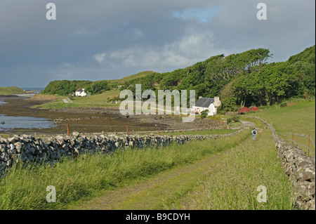 Isle of Canna in summer. Small Isles, Scotland. - Stock Image