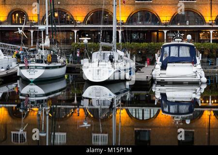Limehouse Basin - Boats - Stock Image