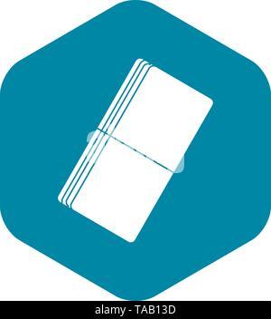 Eraser icon, simple style - Stock Image