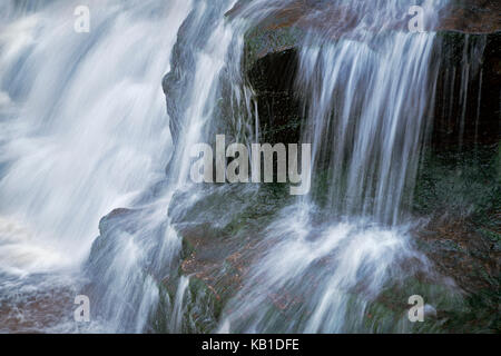 Detail of cascade in Shays Run at Blackwater Falls State Park in West Virginia - Stock Image