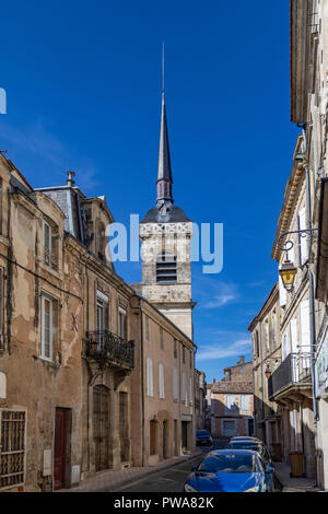 The Town Hall tower (Hotel de Ville) in the town of Blaye in the Nouvelle-Aquitaine region of France. - Stock Image