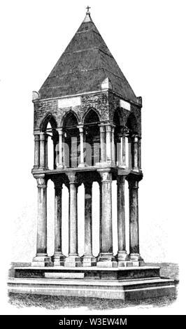 Medieval Tomb of Rolandino Passegieri, Head of the Guelphs, Bologna, Italy, ,  (magazine, 1884) - Stock Image