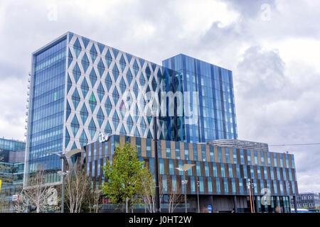 ITV Building, Media City, Manchester, Architecture - Stock Image