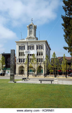 Empire Building on Old Courthouse Square in Santa Rosa, California, soon to be The Boutique Hotel. - Stock Image