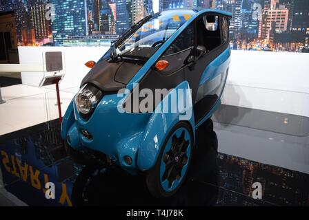 New York, NY, USA. 17th Apr, 2019. Toyota I Road in attendance for New York International Auto Show - WED, Jacob K. Javits Convention Center, New York, NY April 17, 2019. Credit: Kristin Callahan/Everett Collection/Alamy Live News - Stock Image