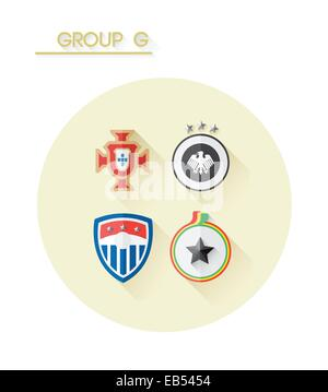 Group g with country crests - Stock Image