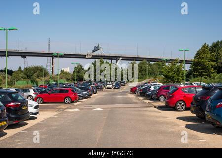 Portway Park & Ride car park, Bristol, UK - Stock Image