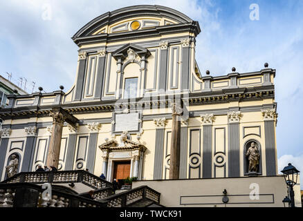 San Paolo Maggiore Church in the Old Town of Naples, Italy - Stock Image