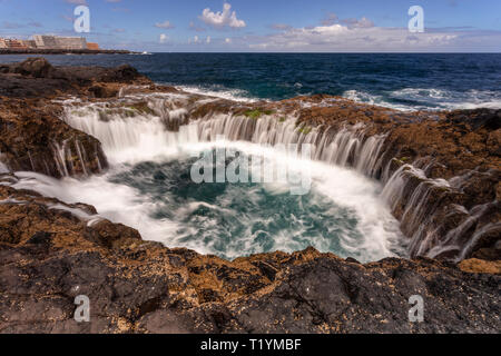 El Bufadero volcanic pool at La Garita, Gran Canaria, Canary Islands - Stock Image