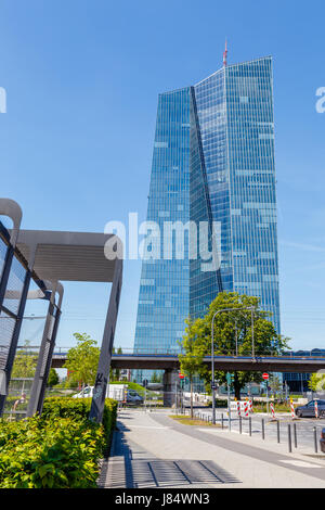 European Central Bank headquarters in Frankfurt, Germany. 16.May 2017. - Stock Image