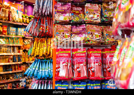 Sweet shop, many sweets on sale in a shop, London, England, United Kingdom, Europe - Stock Image