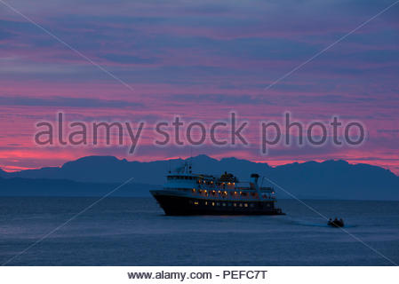A cruise ship off Baja California. - Stock Image