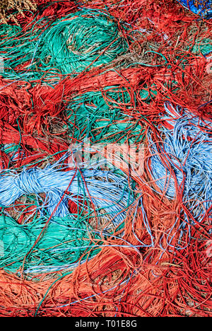 Nylon twine or string in bundles - Stock Image