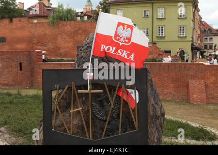Katyn Memorial dedicated to the victims of the Katyn Massacre (1940) in Warsaw, Poland. - Stock Image