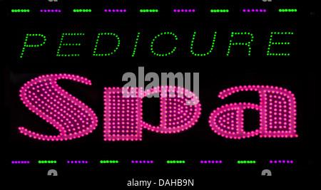 Pedicure SPA sign - Stock Image