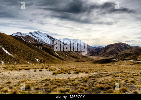 Road to Twizel - Stock Image