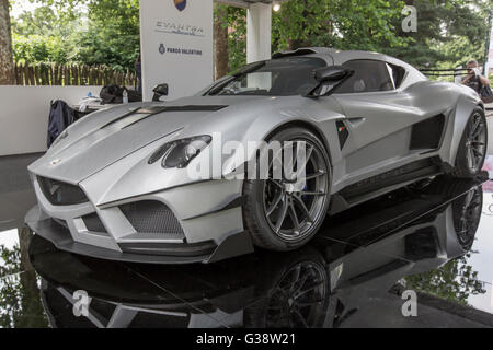 Turin, Italy. 09th June, 2016. Turin car show,from 8th to 12 th June 2016. Mazzanti Evantra Millecavalli Credit: - Stock Image