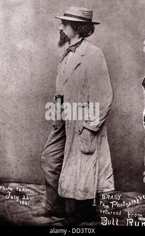 Mathew Brady, July 22, 1861 - Stock Image