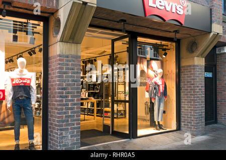 Levi's store York North Yorkshire England UK United Kingdom GB Great Britain - Stock Image