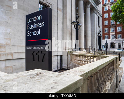 London Business School (LBS) Sammy Ofer Centre (2017). LBS Business School is a component college of the University of London. LBS was founded in 1964 - Stock Image