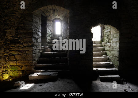 Maasilinna Castle. Inside view.  Orissaare Parish, Saare County, Estonia. 30th August 2017 - Stock Image