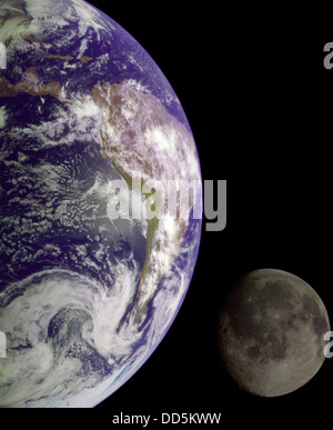 The Earth and Moon - Stock Image