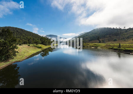 A view across Lake Wivenhoe. - Stock Image