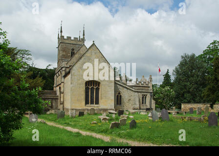 The parish church of St Peter and St Paul in the village of Belton, Near Grantham, Lincolnshire, UK - Stock Image