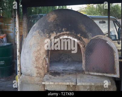 Traditional clay wood heated baking oven in Cyprus - Stock Image